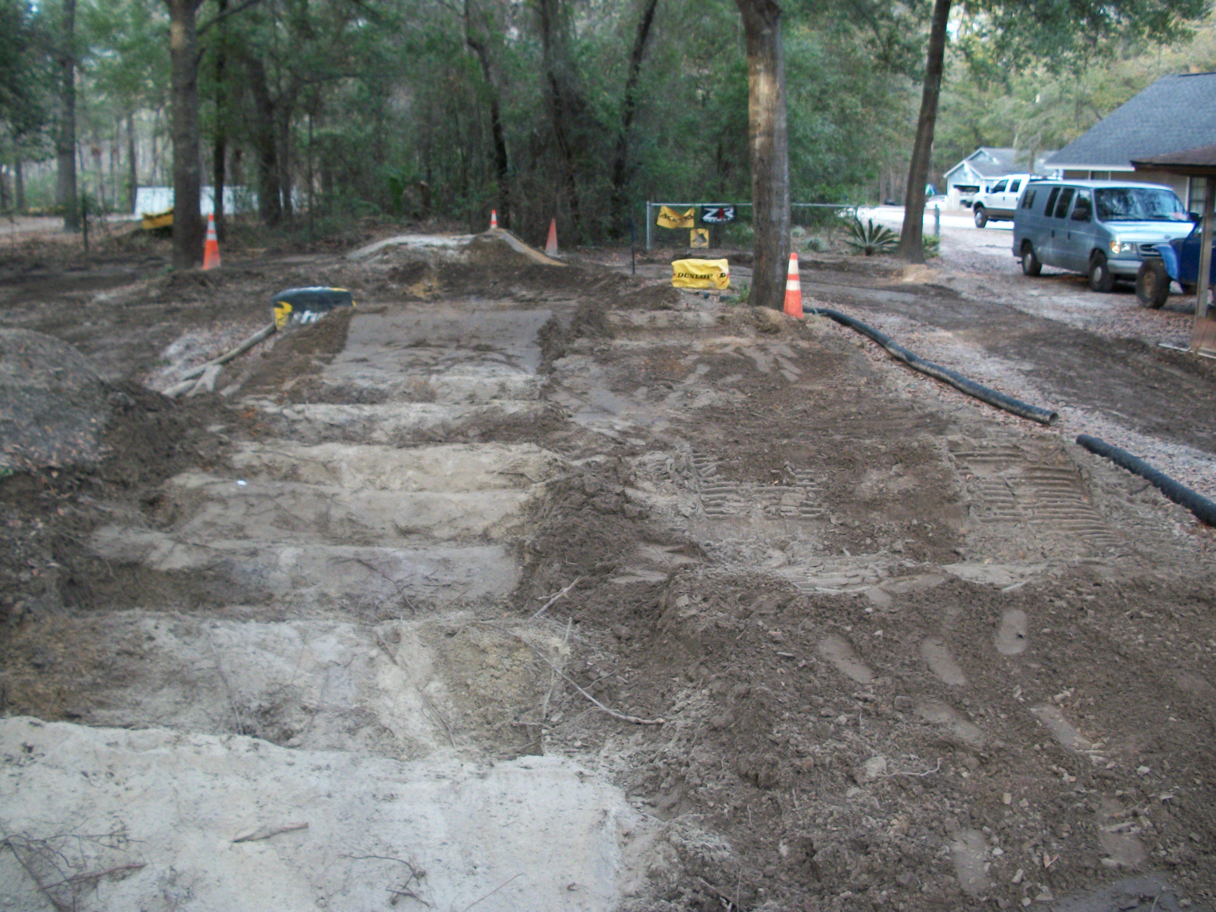 back yard pit bike track