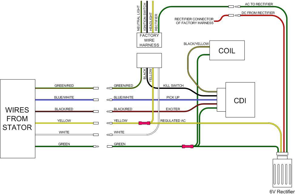 ct70 12 volt conversion, Wiring diagram