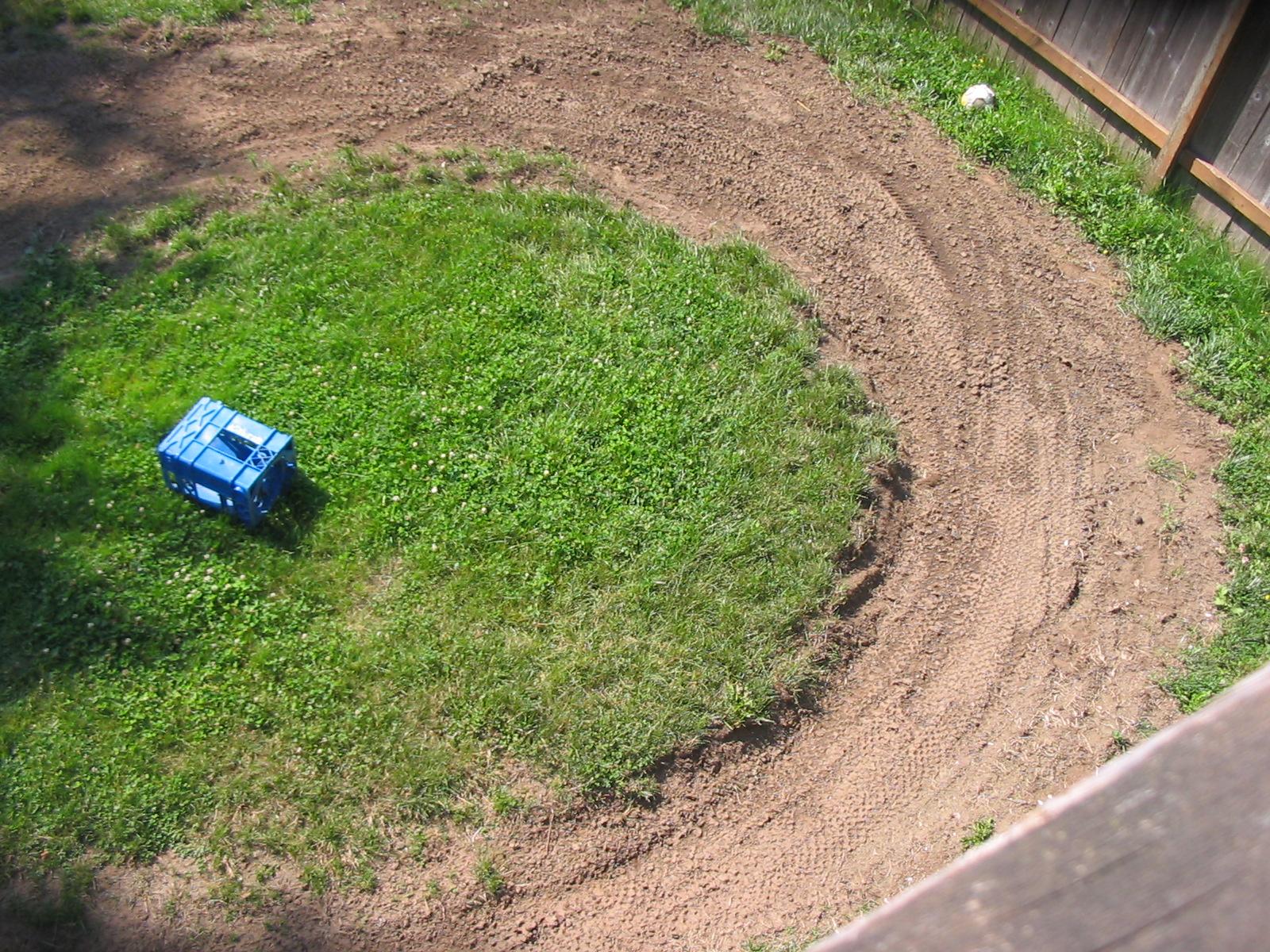 help me design my backyard track