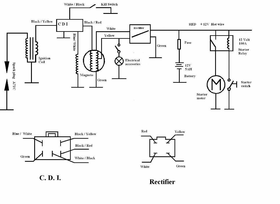 ssr 125 pit bike wiring harness
