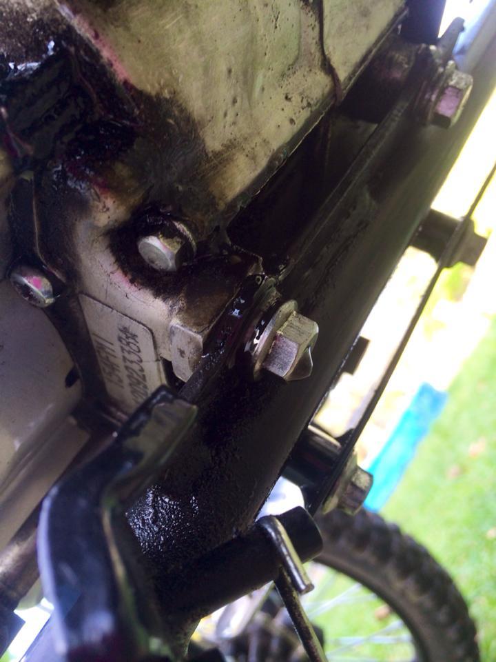 Ssr 125 leaking oil plz help