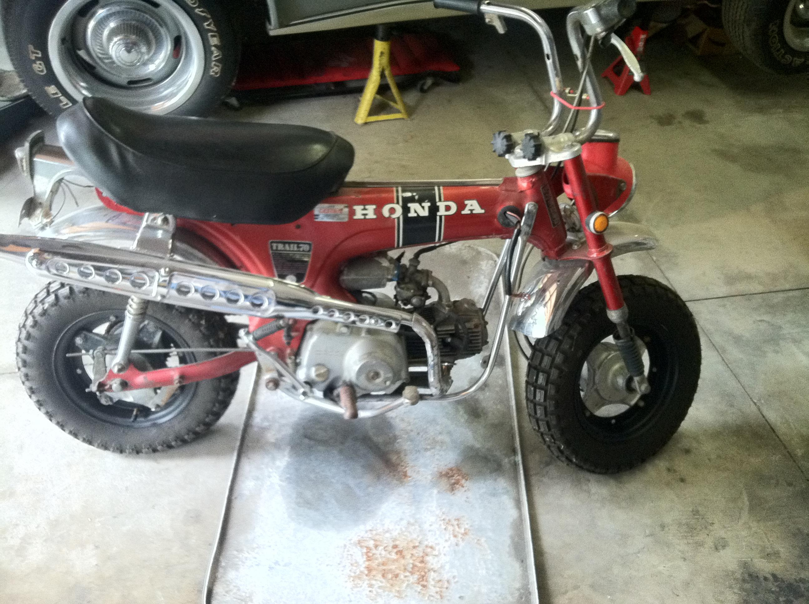 Ct70k0 Restoration 1970 Honda Ct70 Throttle Cable Click Image For Larger Version Name Photo Views 276 Size