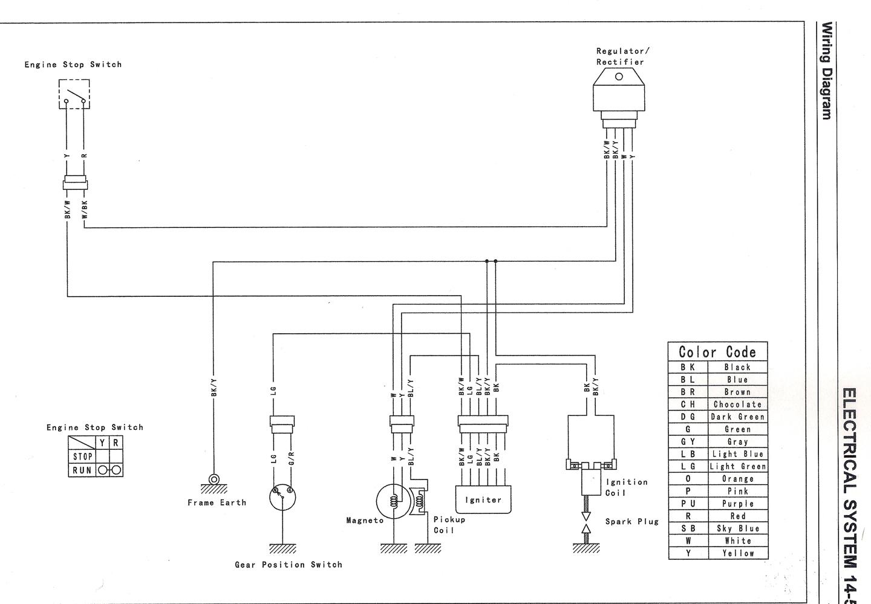 dog chewed up wiring help lol. klx 110, Wiring diagram