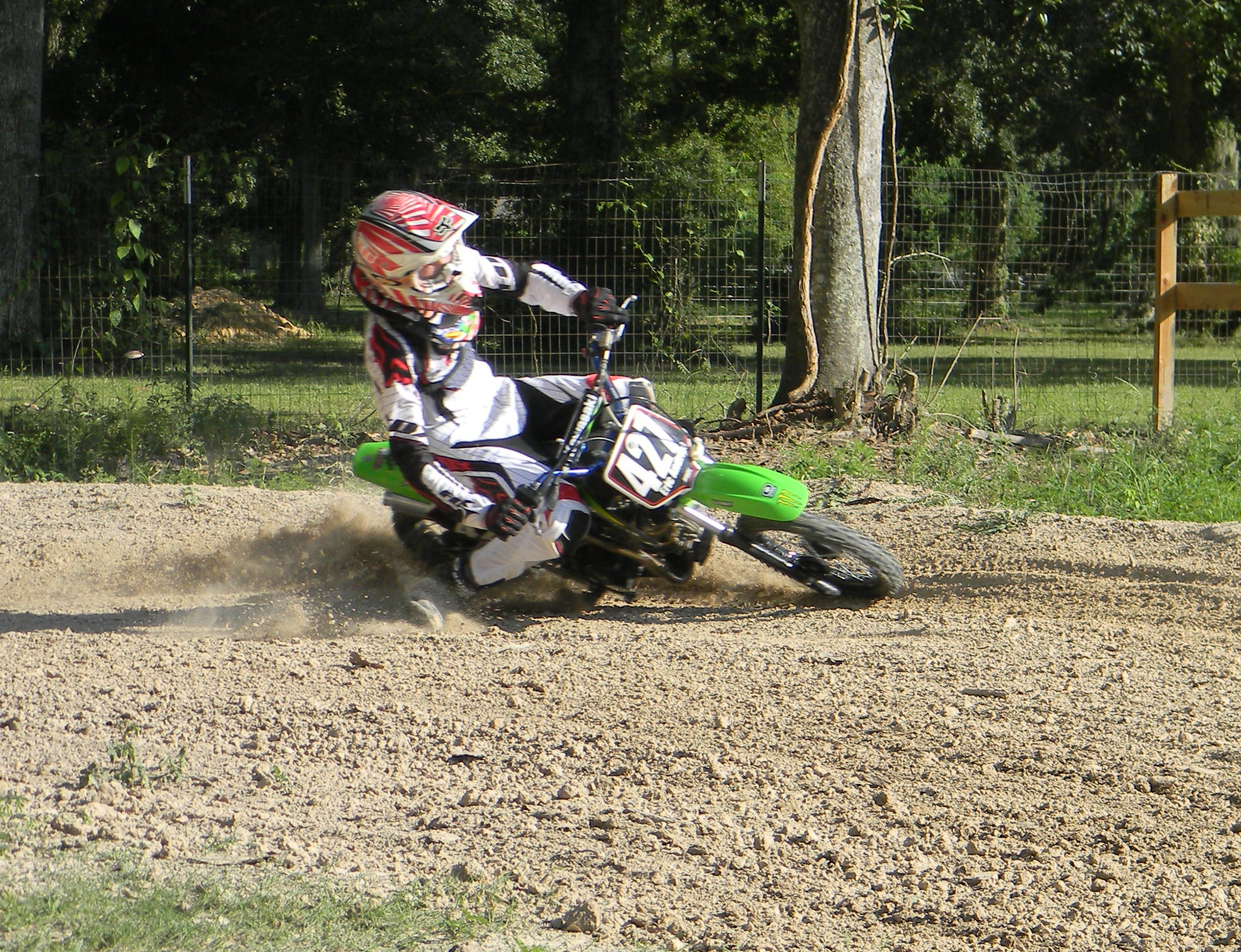 pictures of riding backyard pit bike track