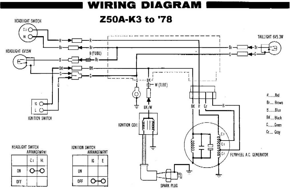 possible for stock 1972+ z50 to charge battery?, Wiring diagram