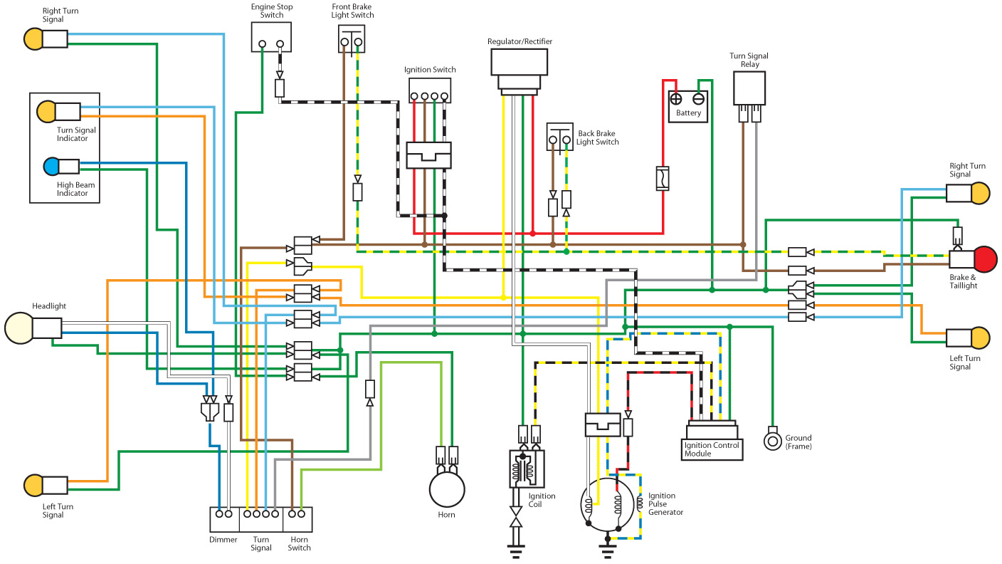 Honda Monkey Z50j Wiring Diagram