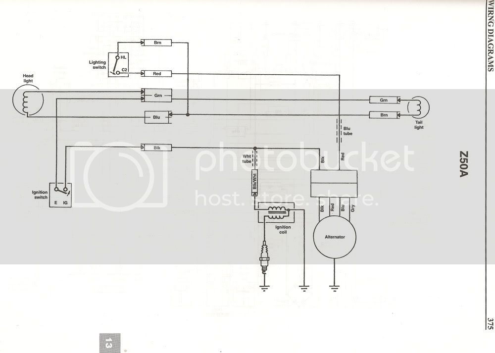 Wiring Diagram Honda Z50
